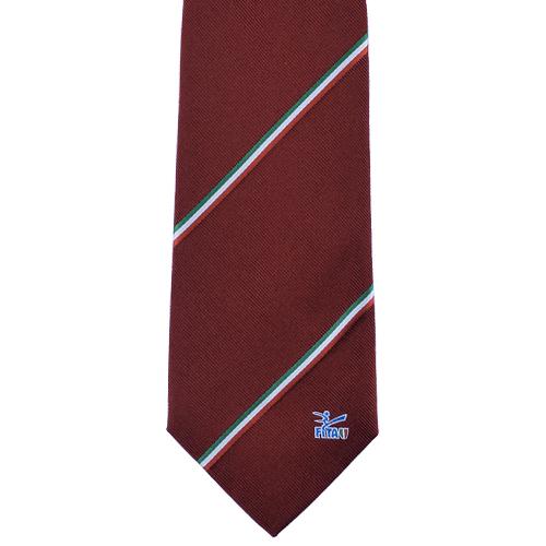 Cravatta personalizzata jacquard con logo su pala